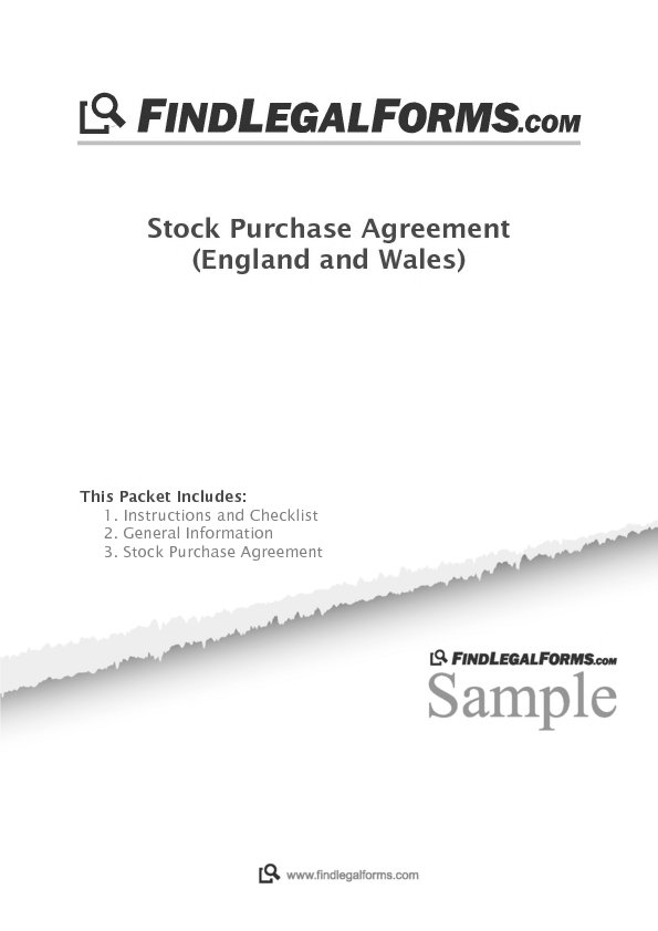 Stock Purchase Agreement England And Wales Sample